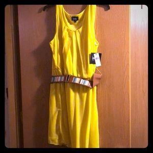 Yellow dress w/belt
